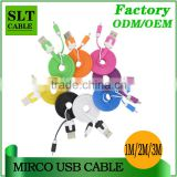 SLT Wholesale 1M 2M 3M Colorful Micro usb charger awm 2725 cable                                                                         Quality Choice