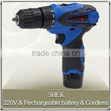 Factory power tools cordless portable electric drill rechargeable lithium battery electric drill