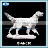 White marble carving of dog for sale