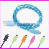 Hoteest super speed braided usb data cable driver round side for iphone5