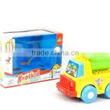 BO bump and go construction car toys EN71 plastic electronic truck toy