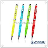 Promotional slim ball pen with crystal silver dots