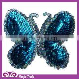 Blue Butterfly Sequin Patches Sequin Appliques