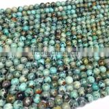 Precious Stone African Turquoise Round Beads 4-12mm Natural Gemstone Loose Beads for Necklace Making