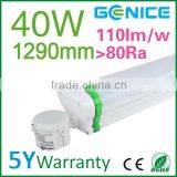New 2ft 4ft 5ft single double led tri-proof tube, Motion sensor 40w ip65 industrial waterproof led tri-proof light