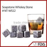 NT-WS12 promotional gift non-toxic soapstone ice cube whisky stones with trade assurance