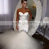 Sparkling Bridal Gowns Long Tail Mermaid Wedding Dresses Luxury Trumpt Bridal Dress
