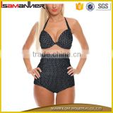 Stylish dot printing halter bikini swimsuit ladies sex high waist swimwear