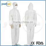 European Type 5/6 Coverall Disposable Nonwoven Protective Clothing
