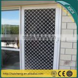 Guangzhou Factory Free Sample 7mm Diamond Grill Aluminium Security Mesh/window grill design security
