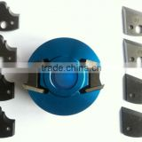 Aluminum Body Light Blue Colour Cutter Head With Limitors To Use On Moulder Machine