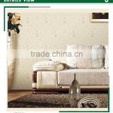 clearance golden edge non woven wallpaper, classic damask wall covering for home interior , beautiful wall decal wholesale