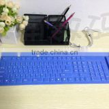 CE/FCC/ROHS Bluetooth rubber silicon keyboard android for ipad