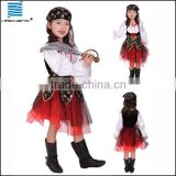 Girl luxury pirate costume for halloween party                                                                         Quality Choice