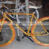 2016 hot selling colorful fixed gear bike water paint bike chinese carbon road bike frame