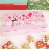 Christmas rectangle baking boxes moon cakes cookies small west gift box packaging