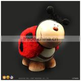 Ceramic Money Bank Cute Ladybug Flocking Modelling