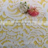 2016 High quality wholesale embroidered lace cotton guipure lace fabric korean lace fabric