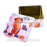 Factory direct sell food box Custom tinplate square cookie box/square tin can