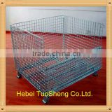 hot sale factory supply metal collapsible storage cage/warehouse cage/wire mesh container