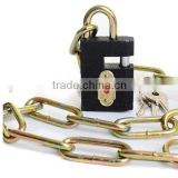 Anti Shear Hot Cale Colorful Bicycle Chain Lock Bike lock Grey iron rectangle padlock