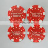 custom made printed plastic token with your COMPANY logo