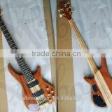5 string neck through body electric bass guitar with active pickup