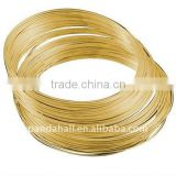 Stainless Steel Memory Wire, Necklaces Making, Nickel Free, Golden, 11.5CM, Wire: 1.0mm, about 250 circles/500g(MW11.5CM-1-NFG)