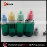 Free samples 10ml 15ml 20ml 30ml empty green e liquid juice plastic pet dropper bottle with childproof cap                                                                                                         Supplier's Choice