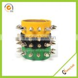 PU leather slap bracelets Fashion wrap bracelets leather treaty bracelets