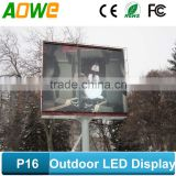 Free OEM/ODM Full Color P16 Outdoor Advertising Traffic Screen Sign, led video billboard for outdoor use