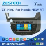 car dvd player for honda NEW FIT with GPS/Bluetooth/Radio/SWC/Digital TV/3G internet/WIFI/ATV/DVR