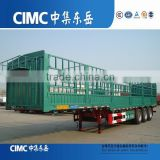 China Factory 40FT 3 Axle High Wall Fence Semi Trailer Truck Bin Column Semi Trailer for sale