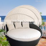 Outdoor sunbed - Resin Rattan Outdoor Daybed with Canopy