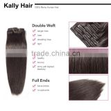 220g remy clip in hair extension, double weft clip in human hair extensions                                                                         Quality Choice