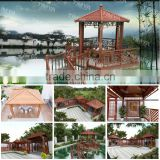 2015 Decorative Antique Metal Pavilion/green Garden Gazebo