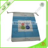 Sublimation non-woven bag with drawstring closure