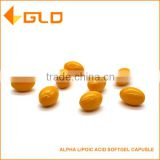 GMP certified antioxidant alpha lipoic acid softgel capsule
