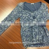 100%Cotton YARN DY INDIGO DENIM JERSEY
