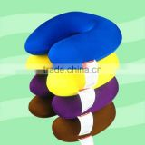 2014 travel neck pillow filled with polystyrene beads
