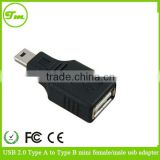 USB 2.0 F/M Mini A 5 Pin 5p male plug to Micro B 5 pin 5P Female jack Adapter