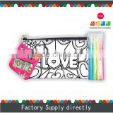 Kids Drawing Pencil Bag, Drawing Set School Pencil Bag, DIY Drawing Bag with 4pcs of Marker