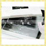 Customized Engraved Glass Baby Naming Ceremony Invitation Cards For Guest Souvenir Gifts