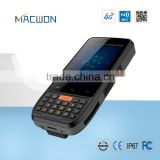 Handheld android mobile uhf rfid reader with barcode scanner