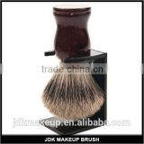 Beautiful wood best badger hair knot shave brush with stand, handcrafted men grooming shaving brush