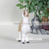 Plush simulation animal alpaca fur toys