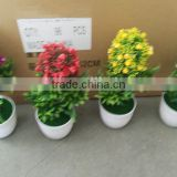 hot sale artifical bonsai for colorful flower with nylon cloth and plastic material