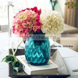 Factory Blue Vase Decorative Fiber Glass Vase for Flower