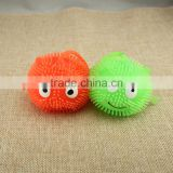 2016 wholesale children emoji toys light up emoji TPR ball puffer ball