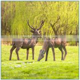 2016 new design garden decoration life size fiberglass deer sculpture